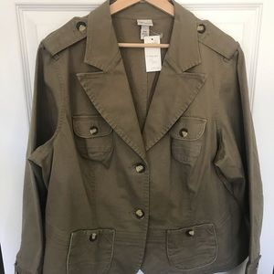 Lane Bryant Olive Green Jacket 18/20 NWT